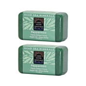 One With Nature Peppermint Dead Sea Mineral Soap, 210ml Bar