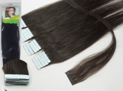 Qianren 41cm 46cm 50cm 60cm 60cm Tape In Real Human Hair Extensions Natural Straight 100% Human Hair Beauty 19colors 20pcs in one pack,