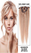 60cm 7pcs Silky Straight Full Head Remy Clip In Human Hair Extensions 80g/set #18/613 blonde mixed