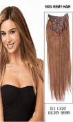 60cm 7pcs Silky Straight Full Head Remy Clip In Human Hair Extensions 80g/set #12 light golden brown