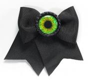 Women's Project Pinup Eyeball Bottle Cap Hair Clip Black/Green