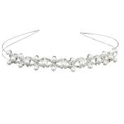 TOOGOO(R)Wedding Party Bridal Bridesmaid Flower Girl Double Faux Pearl Crown Headband Tiara