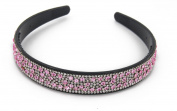 YESHINE Lovely Rhinestone and Crystal Beaded Handcraft Headband ,Hairband for Women,Pink
