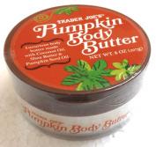 Trader Joes Pumpkin Body Butter - Luxurious Body Butter Made with Coconut Oil, Shea Butter & Pumpkin Seed Oil - 240ml, 227g.