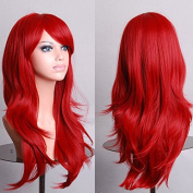 Aimer 70cm Heat Resistant Hair Red Colour Spiral Cosplay Wigs for Women Girls