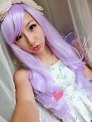 Aimer 80cm Heat Resistant Hair Light Purple Colour Spiral Cosplay Wigs for Women Girls