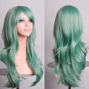 Aimer 70cm Heat Resistant Hair Mint Green Colour Spiral Cosplay Wigs for Women Girls