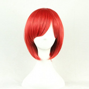Aimer 32cm Heat Resistant Short Hair Red Colour Spiral Cosplay Wigs for Women Girls