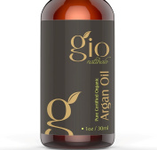 Organic Moroccan Argan Oil For Hair, Face, Skin, Nails, Beards and tattoos. Premium Grade Cold-pressed USDA Certified & Pure Gio Naturals Miracle Oil is for Split Ends, Anti Ageing & Brighten Skin