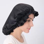 Alaska Bear - 60cm Natural Silk Sleep Night Cap Head Cover Bonnet for Hair Beauty, Large size Fits Most