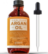 Organic Argan Oil - 120ml - 100% Pure & Certified Organic Argan Oil For Hair, Skin and Nails - Cold Pressed - Triple Purified