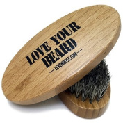 #1 TRUSTED Wooden Boar Hair Bristle Beard Brush by Leven Rose - Perfect For a Beard Grooming Kit for Men - Made of Boars Hair Bristles and Firm Natural Wood - Great For Men's Gift