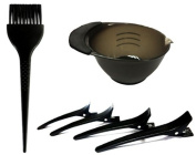 Salon Hair Colouring Kit : Dye Brush, Mixing Bowl, 4 Sectioning Clips.