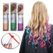 Joyous Professional Waxy Hair Chalk Pens Hair Chalk Salon Temporary Hair Colour Dye Touch-up