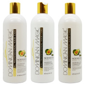 "Dominican Magic Nourishing Shampoo & Conditioner & Moisture Lock Leave on ""Set"""