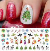 Christmas Holiday Assortment Water Slide Nail Art Decals Set #6- Salon Quality 14cm X 7.6cm Sheet!