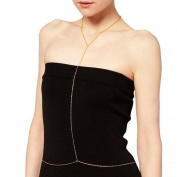 Sealike Unique Fashion Dress Neck & Waist Necklace Full-Body Chain Belly Chain for Women Evening Dress with a Stylus