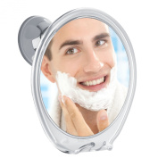 Fogless Shower Mirror 3X Magnifying, with Razor Hook for Anti Fog Shaving, 360 Degree Rotating for Easy Mirrors Viewing, Super Strong Power Lock Suction Cup, Enhance Your Shave Experience Now!