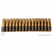 Bullet Belt For Waist 60 Bullets Bullets Novelty Toy Weapons & Armour for Fancy Dress Costumes Accessory