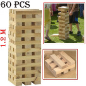 ZANBEEL NEW 1.2M GIANT JENGA WOODEN TUMBLE TOWER HI-TOWER BLOCKS 1.2 M FAMILY GARDEN GAME INDOOR OUTDOOR BBQ PUB BEACH PARTY FUN TUMBLING WOOD BRICK BLOCK