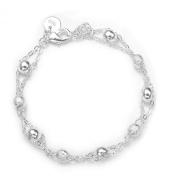 925silver Sytle Beautiful Classic Women Men Jewellery solid silver Buckle Chain bracelet