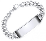 Theia Stainless Steel Curb Chain 21.5cm ID Bracelet