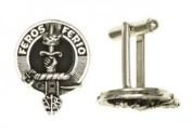 100% Pewter Russell Clan Crest Cufflinks - Made in Scotland by Art Pewter