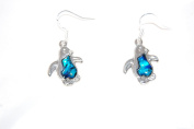 Penguin Drop Hook Earrings with Sea Abalone Shell and 925 Sterling Silver Hooks Anti-Tarnish (in an Organza Gift Pouch ) Fashion Jewellery
