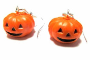 Miniblings Earrings Halloween Pumpkin Autumn Pumpkin Vegetables Pumpkin Hanger Earrings
