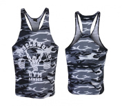 Mens Muscle Works Gym Stringers Vest Tank Top Bodybuilding Gym Wear MMA Clothing Camo
