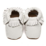 Moccasins Baby Shoes White 6-12 months