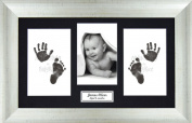 Anika-Baby BabyRice Baby Hand and Footprints Kit includes Black Inkless Prints/ Aged Antique Silver effect Frame with Black Mount Display