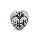Two Turtle Doves Peace Love 925 Sterling Silver Charm Fits Pandora Charm Bracelet