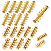 KLOUD City® Multi Strand Slide Magnetic Tube Clasps for Necklace Jewellery Findings
