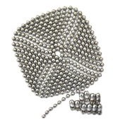 3m Length Ball Chain, #13 Size, Nickel Plated Steel, & 10 Matching 'B' Couplings