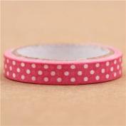 super thin pink dot paper mini deco tape by Prime Nakamura