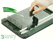 Jielisi 3-Way 32cm (A4 size) Rotary Trimmer Cutter Perforate & Scallop