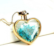 Onairmall Fashion Pastoral Style Dried Pressed Flower Heart Shape Unique Style Women Pendant Necklace - Multiple
