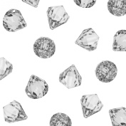 Acrylic Clear Ice Rock Diamond Crystals Treasure Gems for Table Scatters, Vase Fillers, Event, Wedding, Arts & Crafts, Birthday Decoration Favour (60 Pieces) by Super Z Outlet®