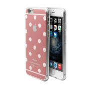 iPhone 6/6s Case Cover + Free Screen Protector-Superstart Pink Cute Polka Dot Soft TPU Rubber Case for iPhone 6/6s 12cm Ultra Thin Clear Scrath Resistant Case