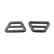 Bluemoona 100 PCS - 14mm 24mm Adjuster Triangle Plastic Buckles With Bar Swivel Clip D Ring
