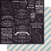 Bella! Baby Boy Double-Sided Cardstock 30cm x 30cm -Little Things