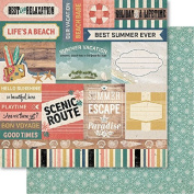 Bella! Summer Daze Double-Sided Cardstock 30cm x 30cm -Good Times