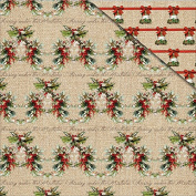 Christmas Memories Double-Sided Cardstock 30cm x 30cm -Christmas Holly
