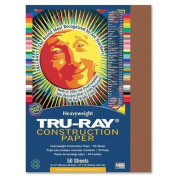 Tru-Ray Construction Paper, 34kg., 23cm x 30cm , 50/PK, Brown