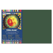 Tru-Ray Construction Paper,34kg.,30cm x 46cm ,50/PK,Dark Green