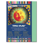 Tru-Ray Construction Paper, 34kg., 23cm x 30cm , 50/PK, Light Green