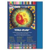 Tru-Ray Construction Paper, 34kg., 23cm x 30cm , 50/PK, Blue