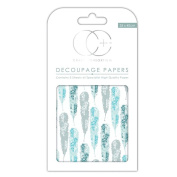 Craft Consortium Decoupage Printed Paper Pack of 3 - CP175 Vane