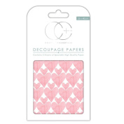 Craft Consortium Decoupage Printed Paper Pack of 3 - CP114 Love Hearts